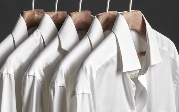 Steam Care for Shirts - Repetitive steam injections and heat treatment to eliminate creases in the fabric.