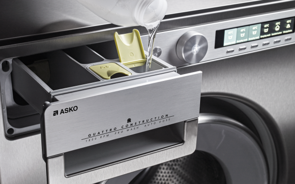 ASKO washing machine give you the right dosage.