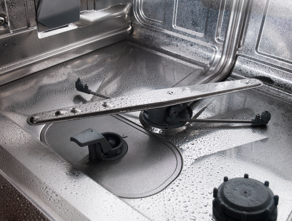 Self-cleaning programme in ASKO dishwasher.